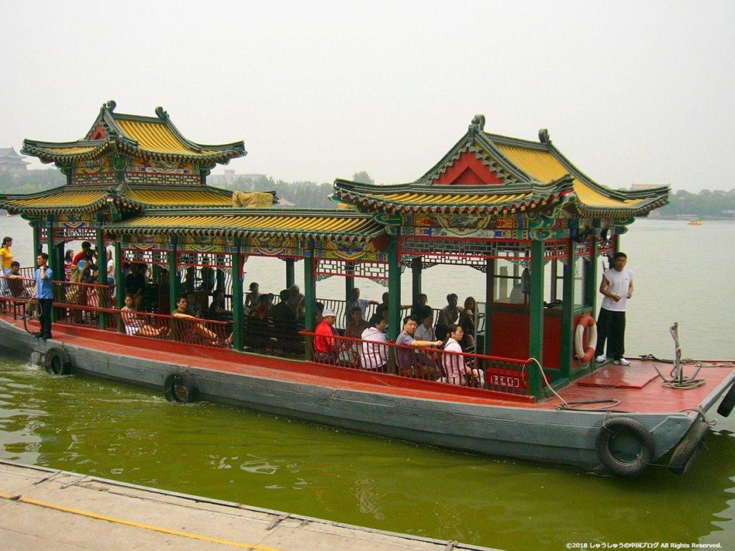 北京の北海公園の遊覧船