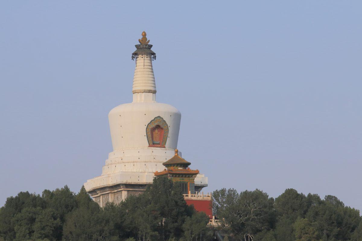 北京の北海公園の白塔