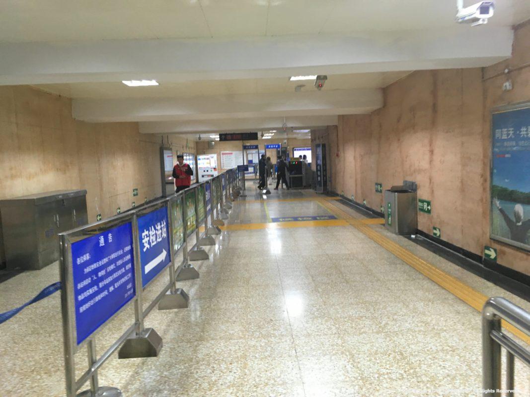 北京の地下鉄の通路
