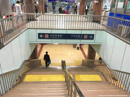 北京の地下鉄の乗り換え