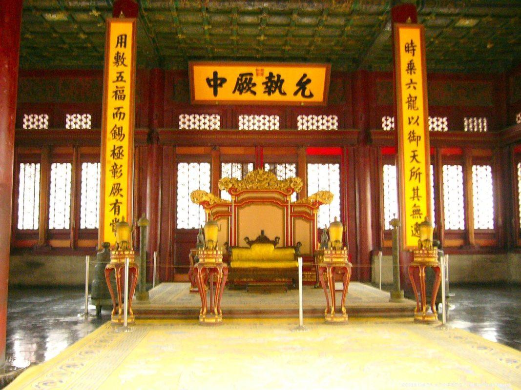 北京の故宮の宝座