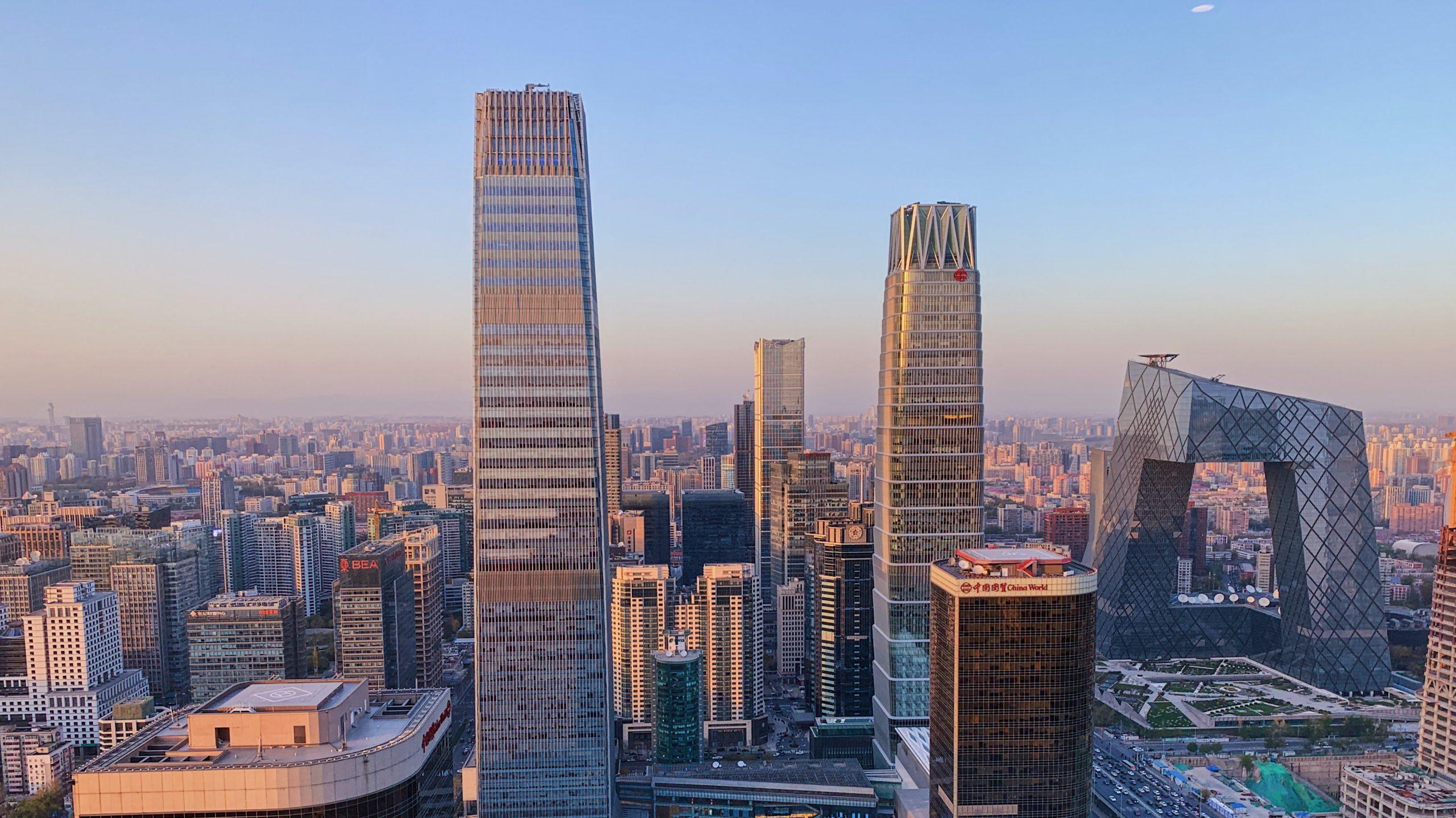 北京の街の高層ビル