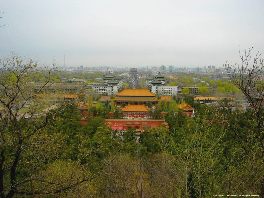景山公園北側の景色