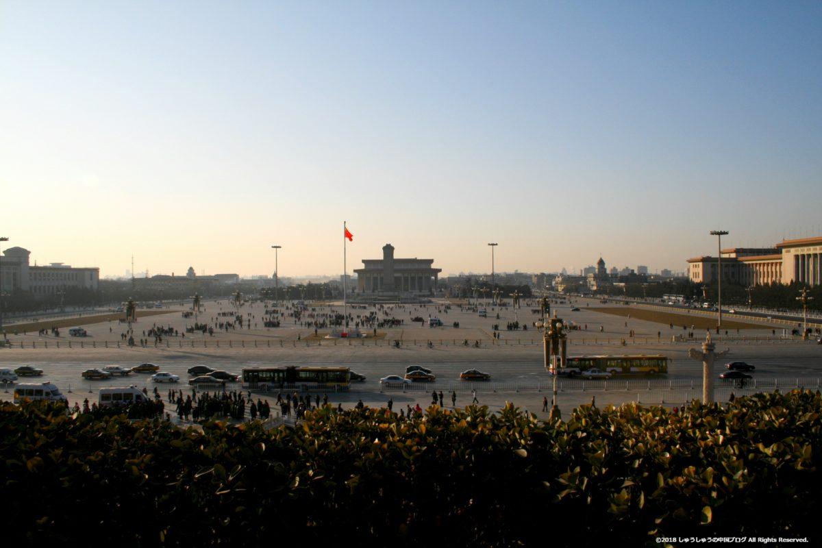 天安門城上から天安門広場を見た景色