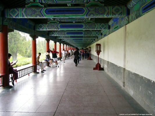 北京の天壇の七十二長廊