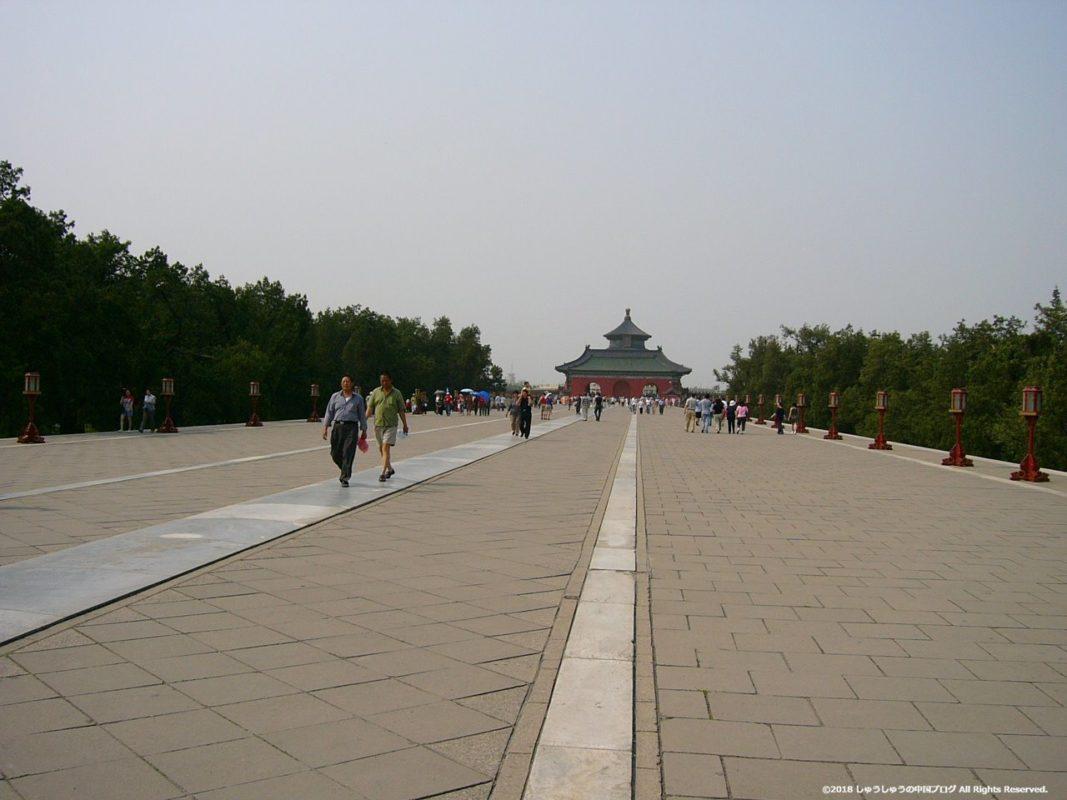 北京の天壇の道