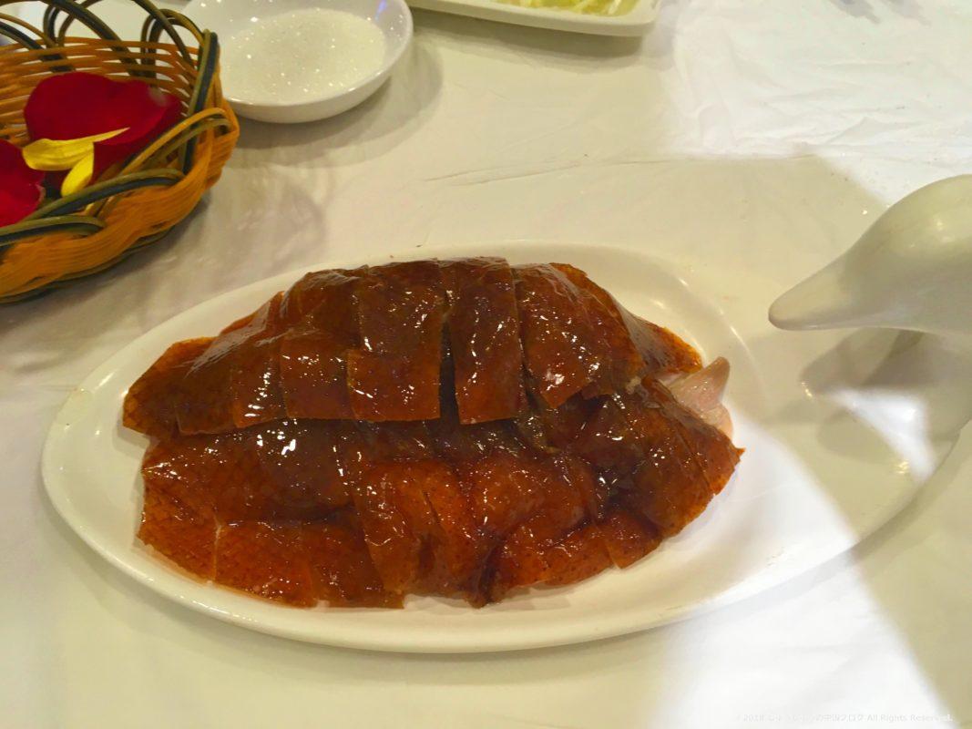 北京ダックの便宜坊の皮の部分