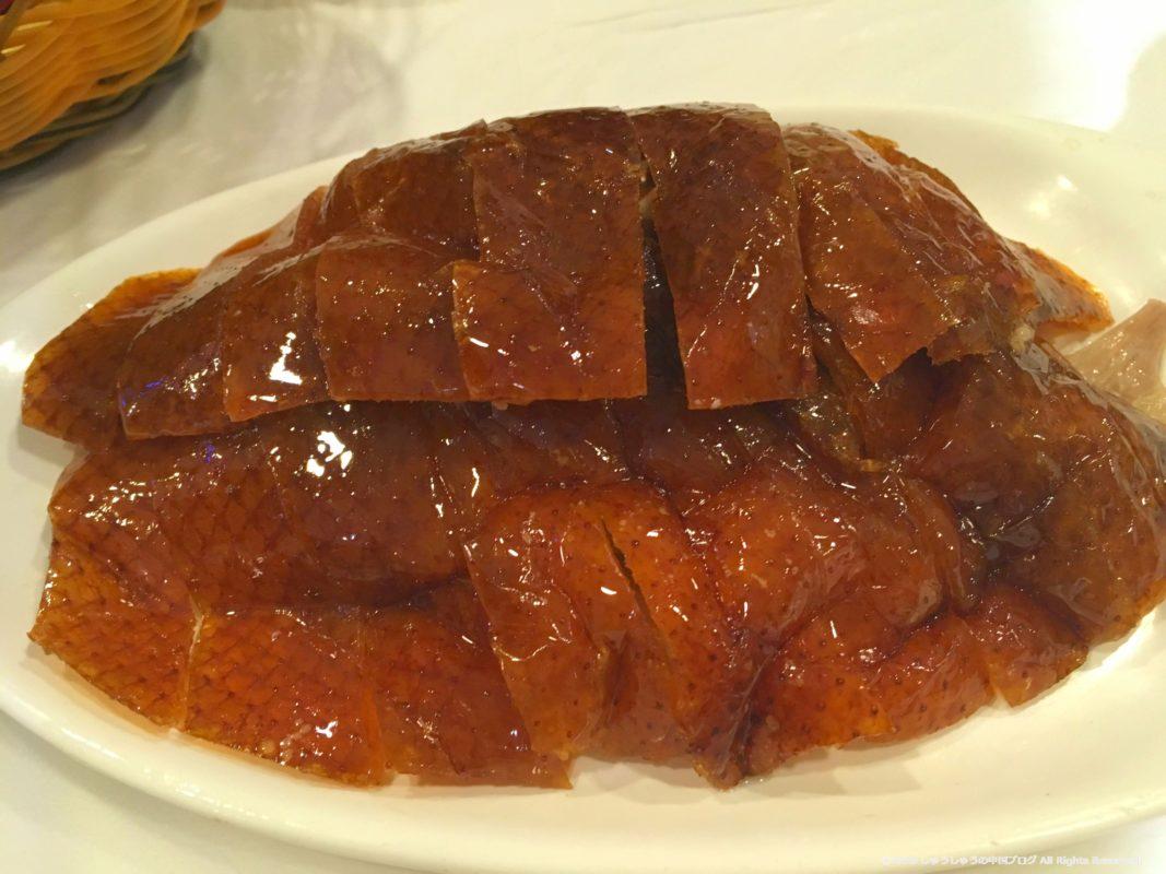 北京ダックの便宜坊の皮の部分アップ