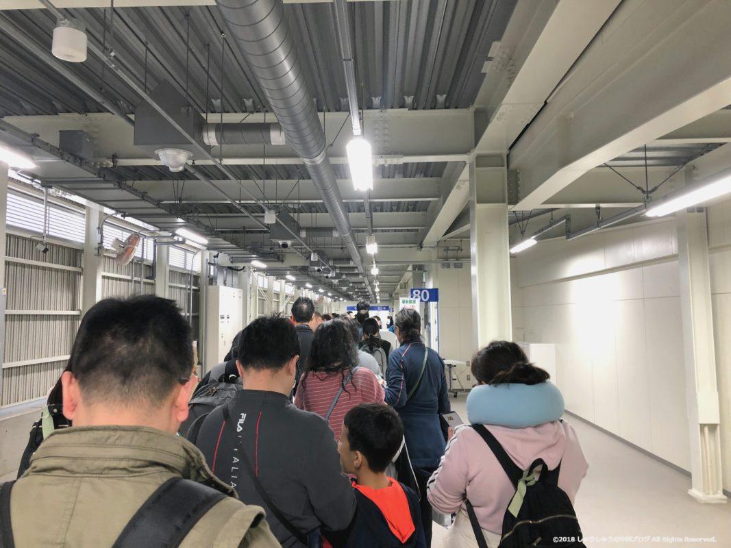 関西空港第2ターミナルでゲートに向かう