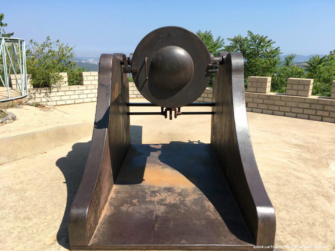旅順203高地の日本の大砲の後部