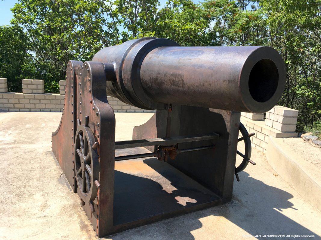 旅順203高地の日本式の大砲2