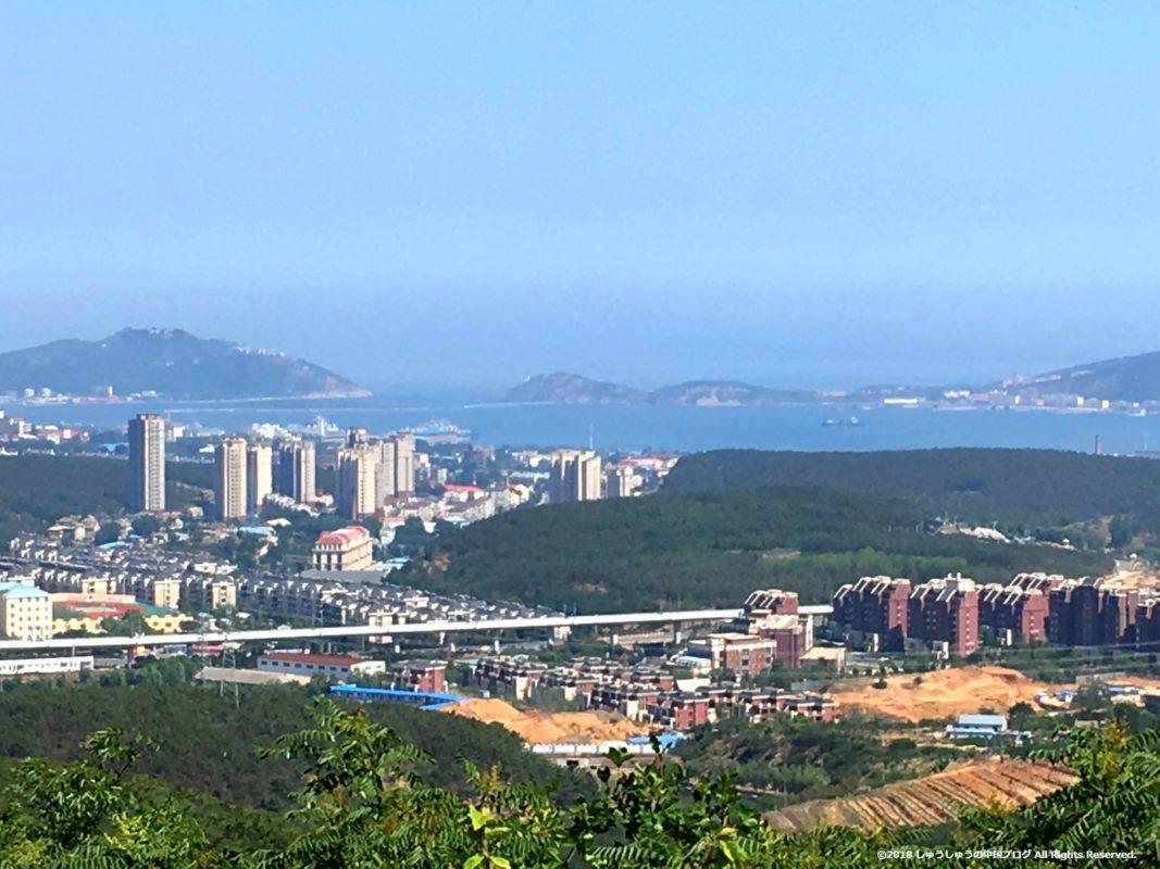 旅順203高地からの旅順港の拡大写真