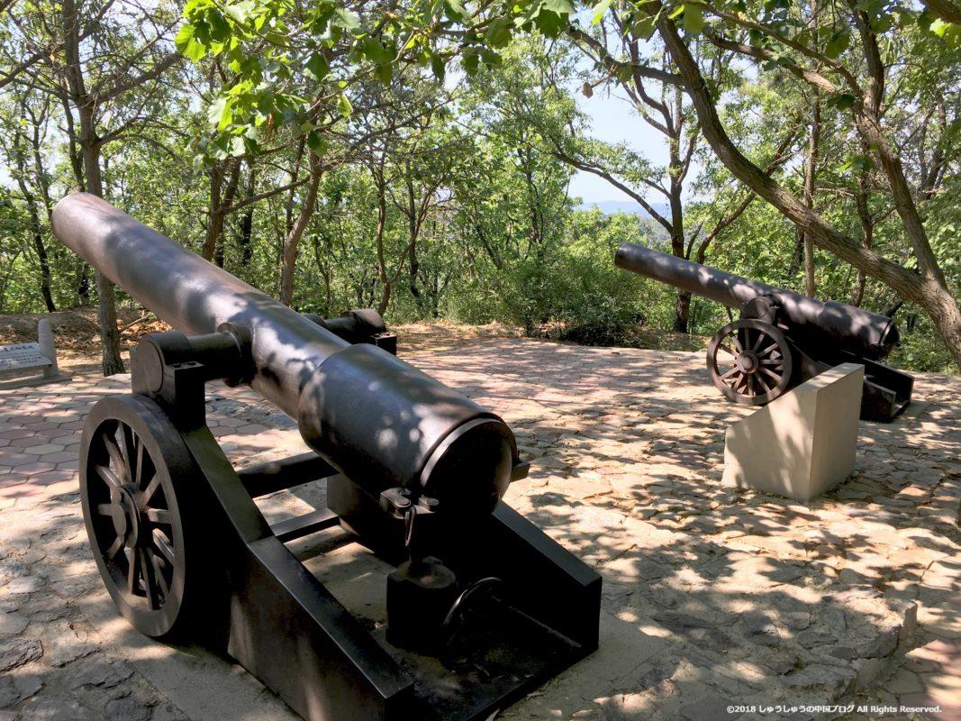 旅順203高地のロシア式の大砲