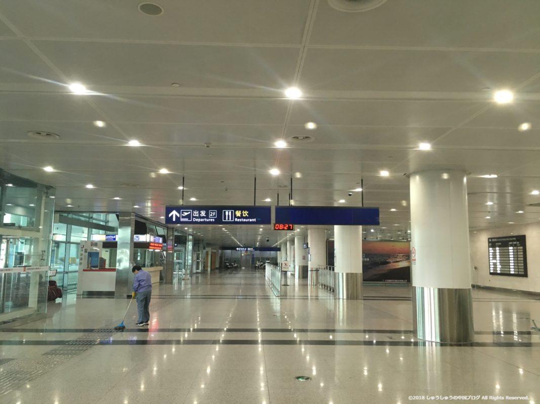 大連空港の国際線到着ロビー