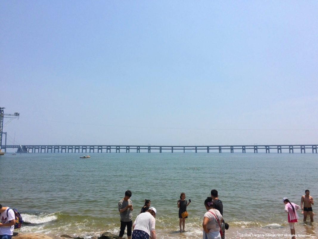 大連 星海公園の砂浜