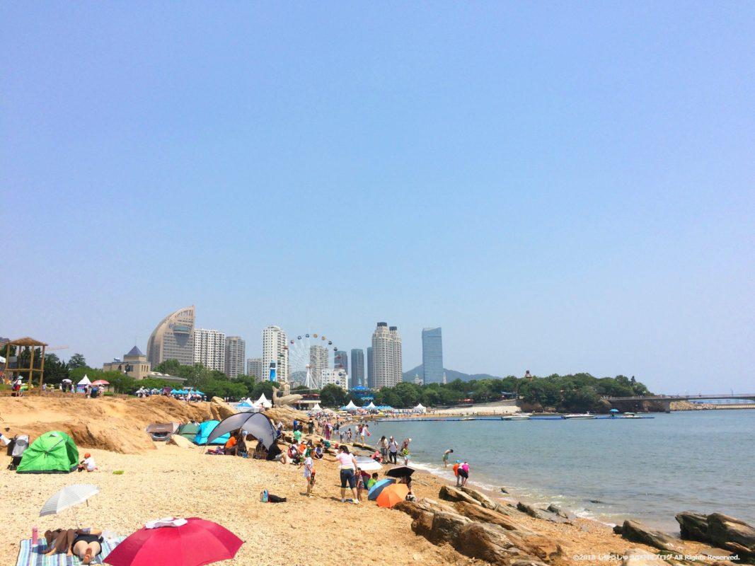 大連 星海公園の海岸