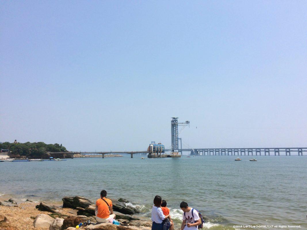 大連 星海公園のバンジージャンプ