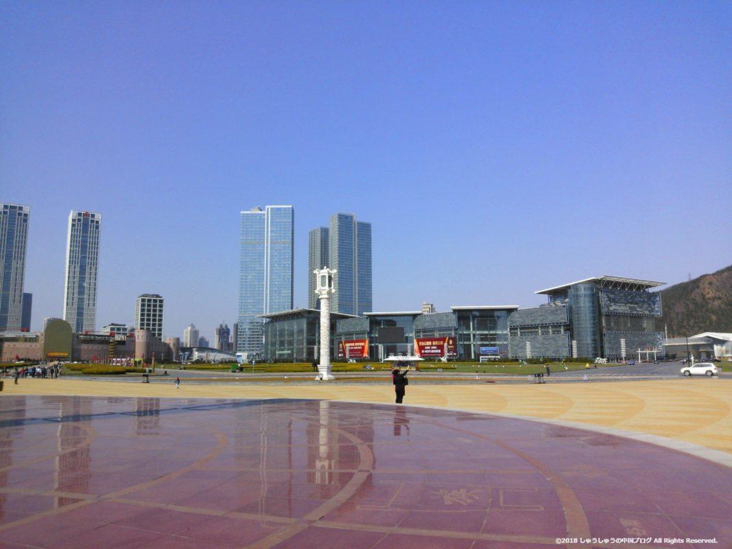 大連の星海広場の中心部