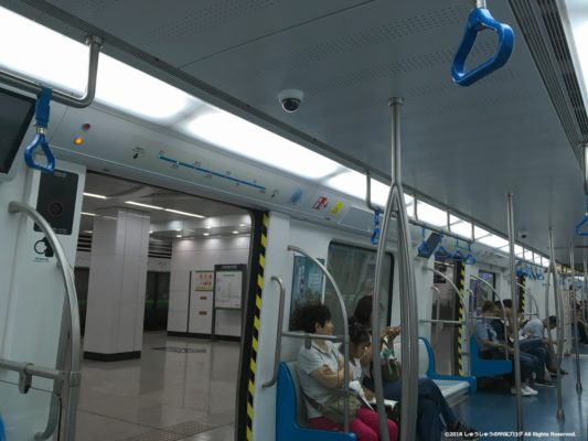 大連地下鉄12号線の電車