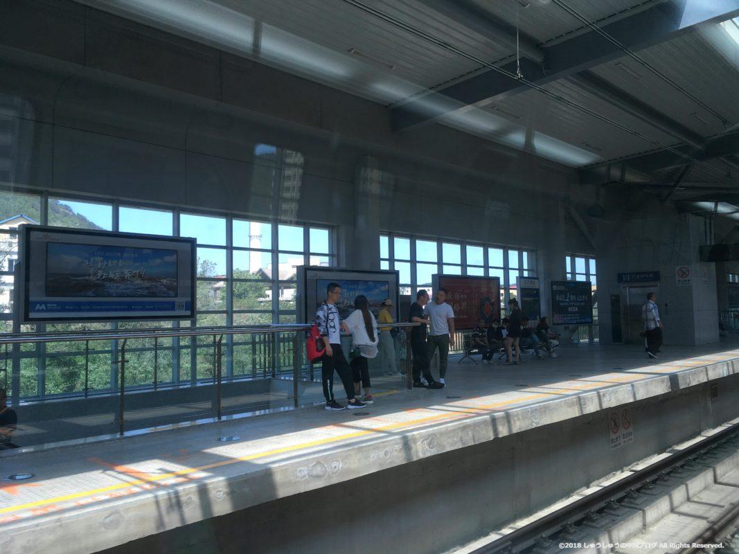 大連地下鉄12号線の途中の駅