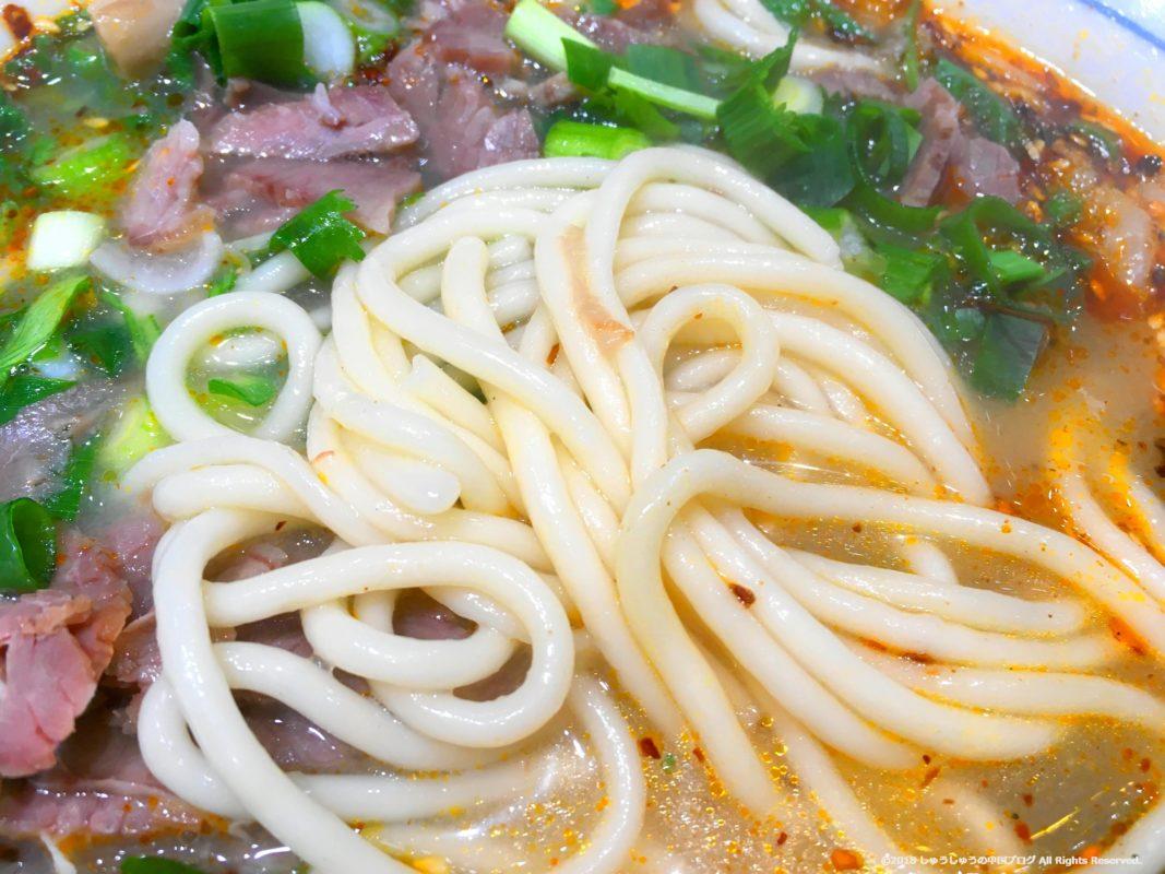 饸饹面の麺のアップ