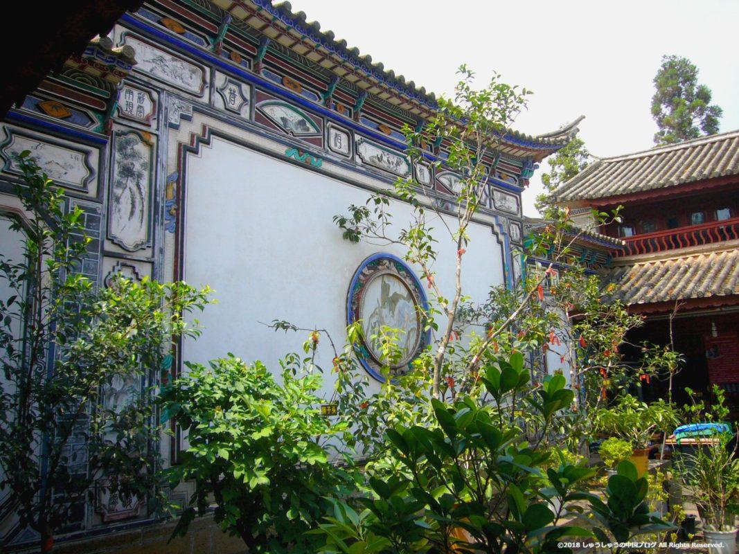 雲南民族村の白族村の住居