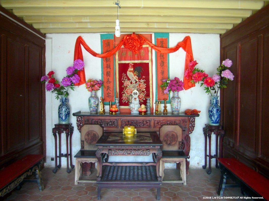 雲南民族村の白族住居の神棚
