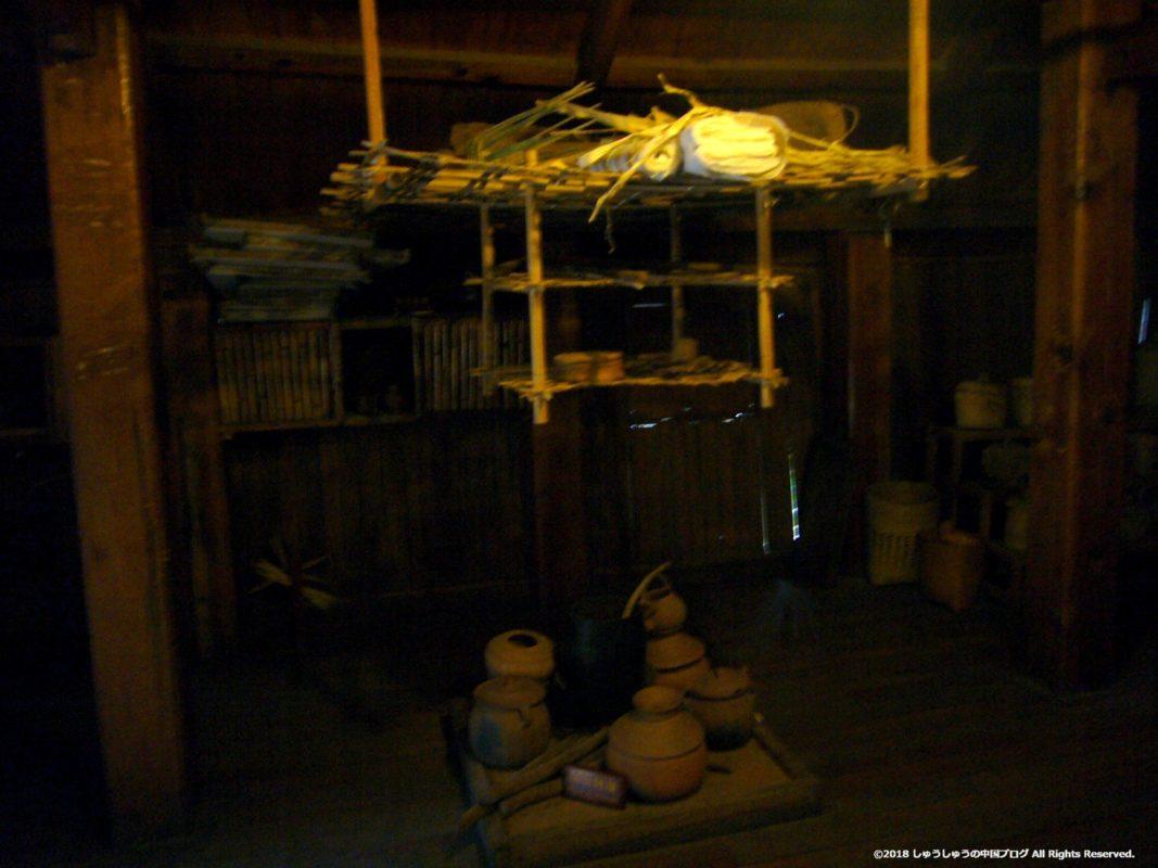 雲南民族村のタイ族の部屋の様子