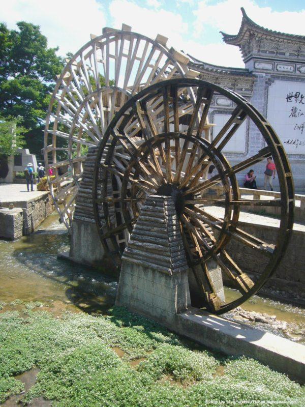 麗江古城の水車