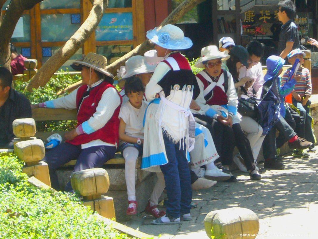 麗江古城のナシ族の衣服