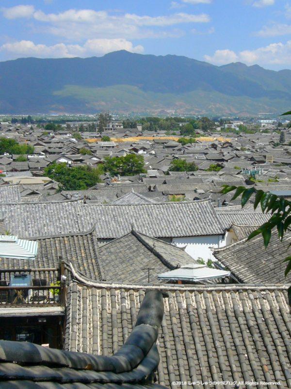 獅子山から見た麗江古鎮7