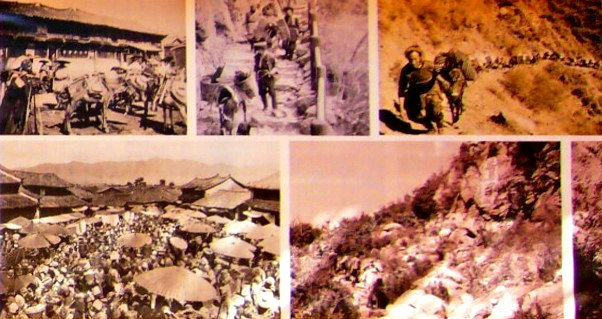 麗江の茶馬古道の昔の写真