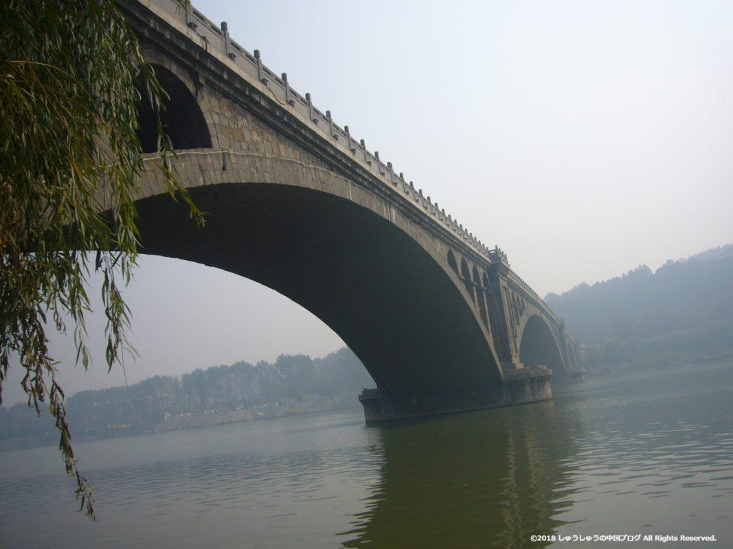 洛陽龍門石窟の入り口の橋