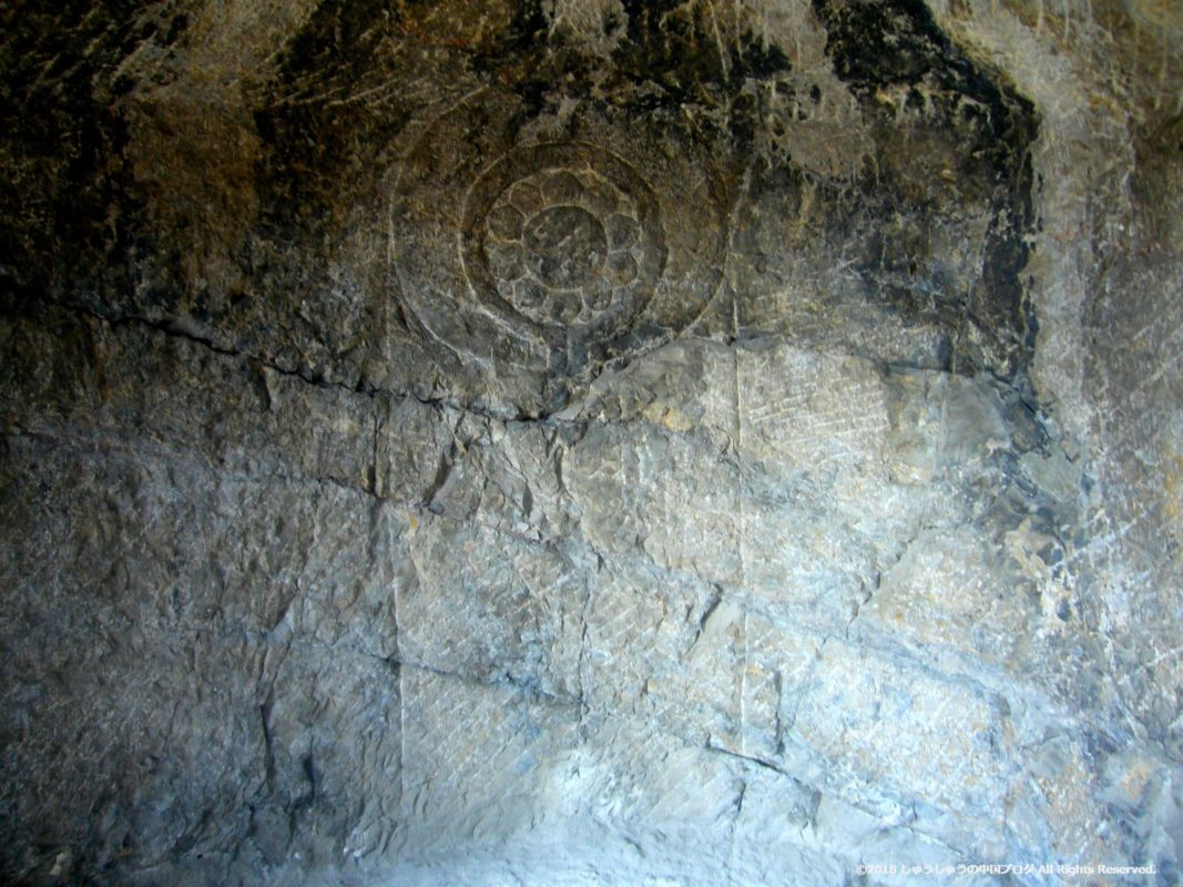 洛陽龍門石窟潜溪寺の蓮の花