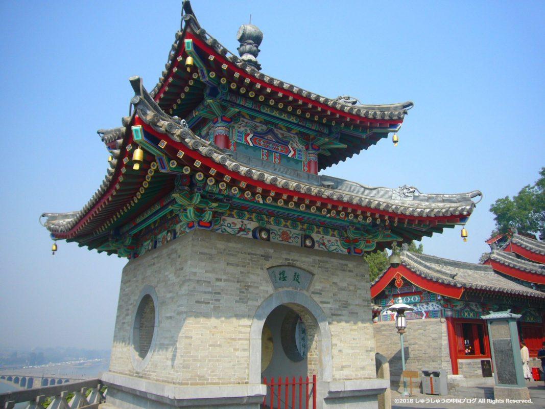 洛陽龍門石窟の香山寺の鼓楼
