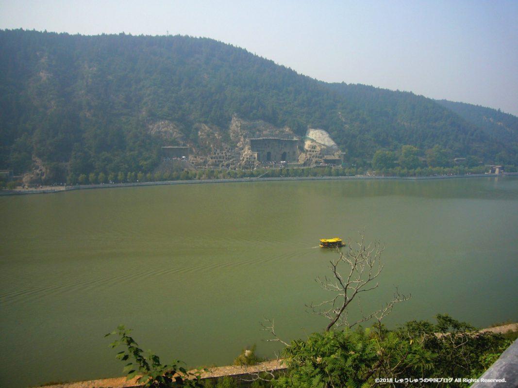 洛陽龍門石窟の香山寺から見る景色その1