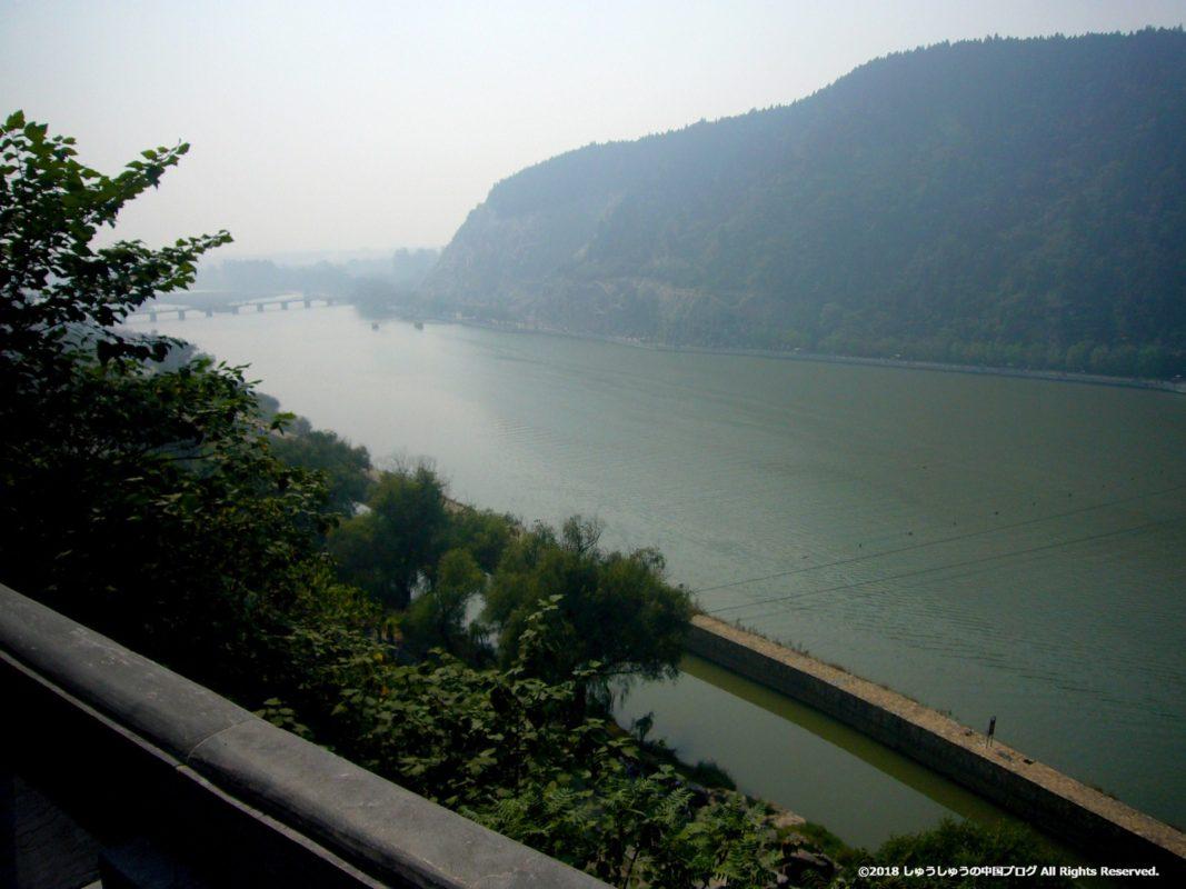 洛陽龍門石窟の香山寺の伊河の景色その3