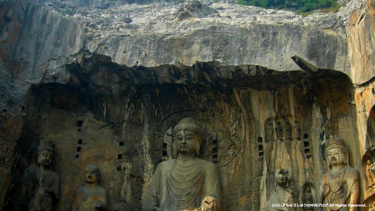 洛陽龍門石窟の奉先寺
