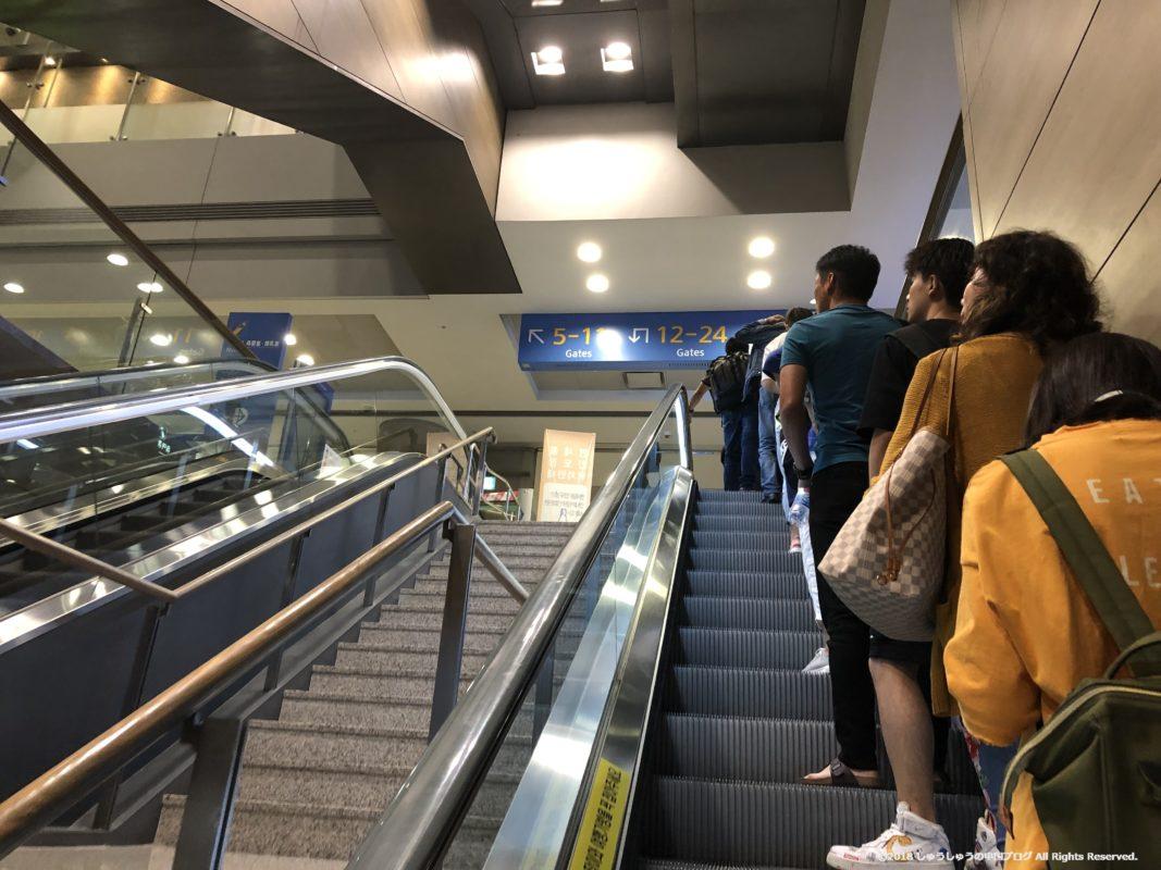 ソウル仁川国際空港で乗り換え完了