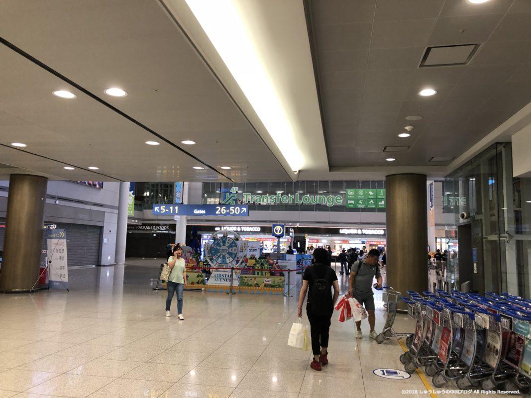 ソウル仁川国際空港の第1ターミナル3Fフロア