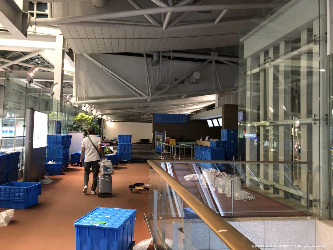 ソウル仁川国際空港 第1ターミナルの深夜の4F