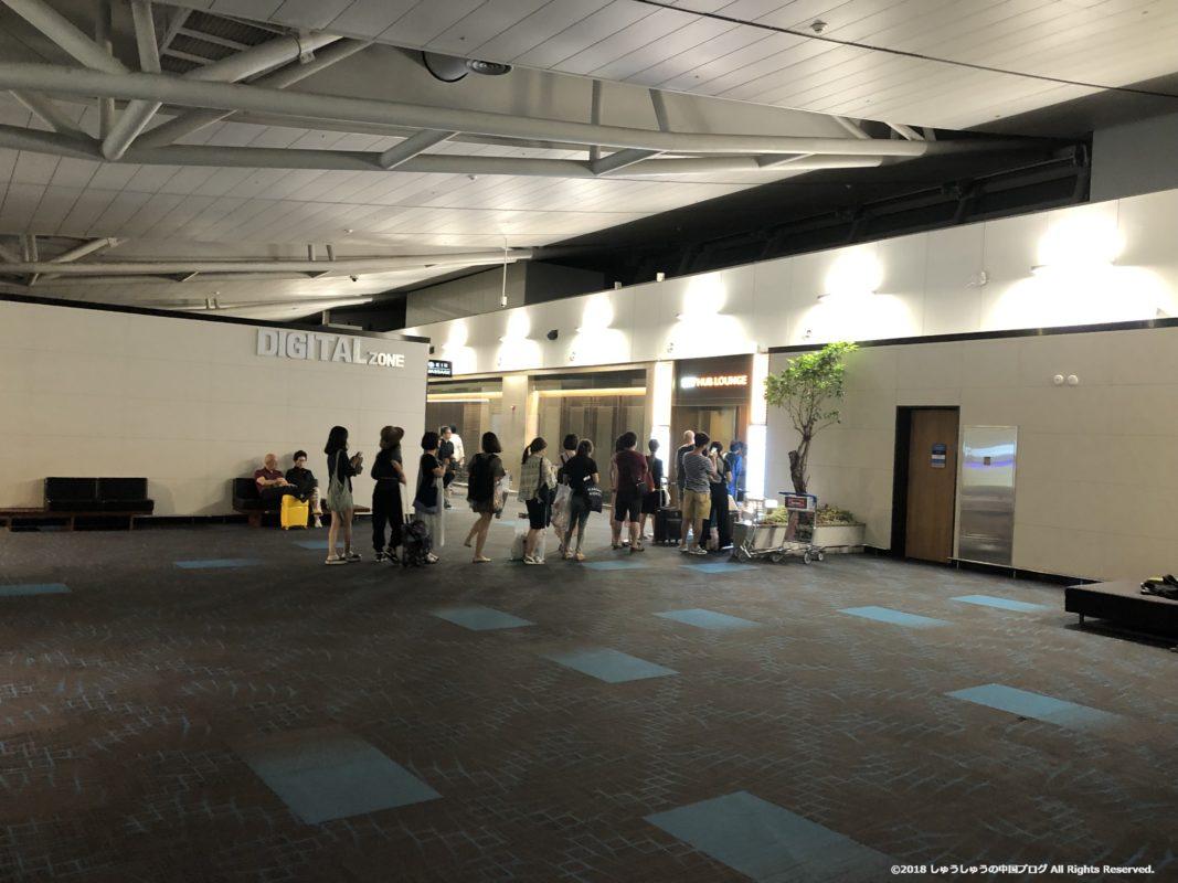 ソウル仁川国際空港4Fの長蛇の列