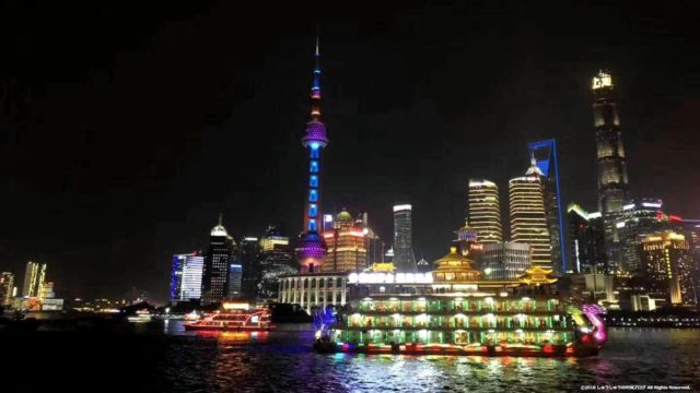 上海浦東新区の夜景