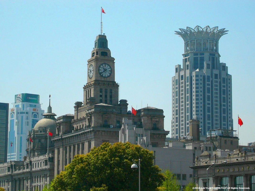 上海の外灘の租界時代の建築物
