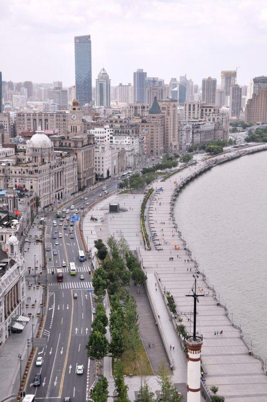 上海の外灘の全体