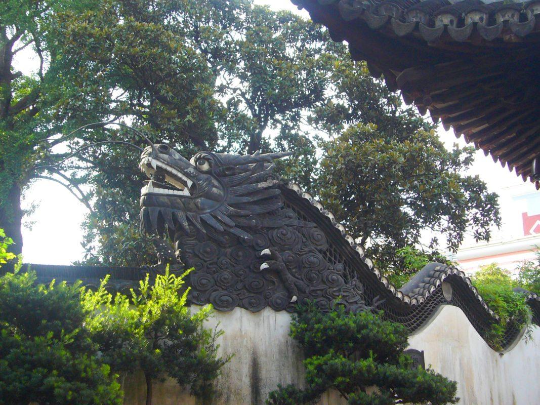 上海豫園の龍壁その1