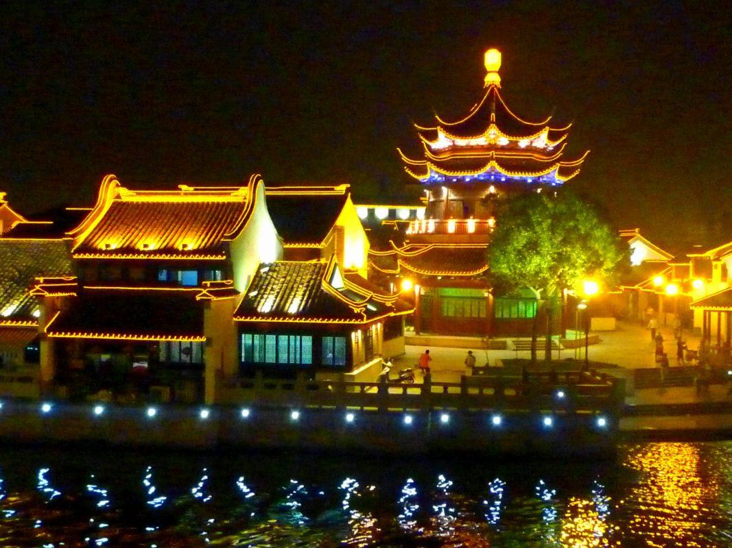 七里山塘の夜景(その4)