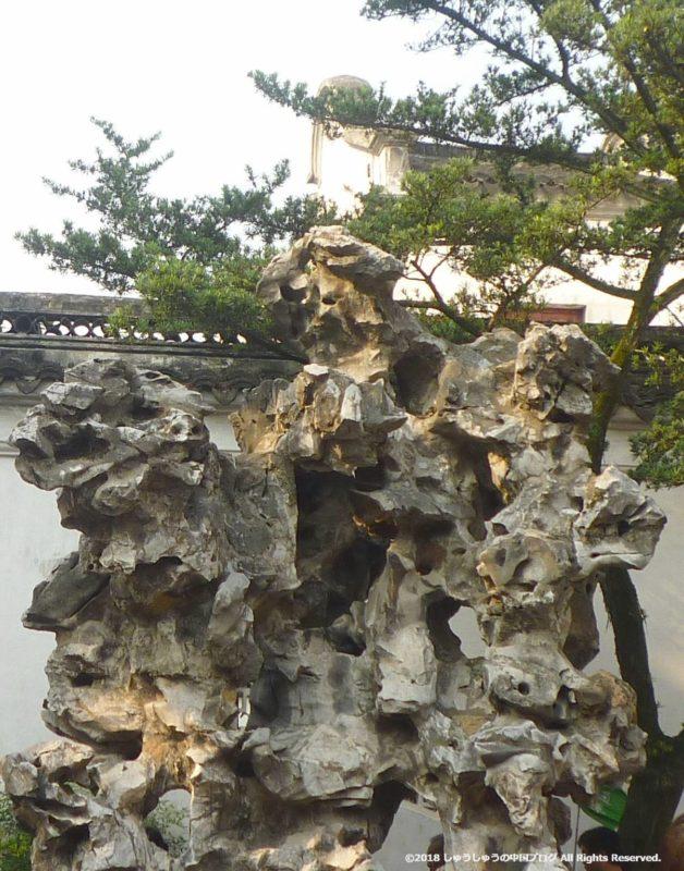 蘇州の獅子林の奇岩