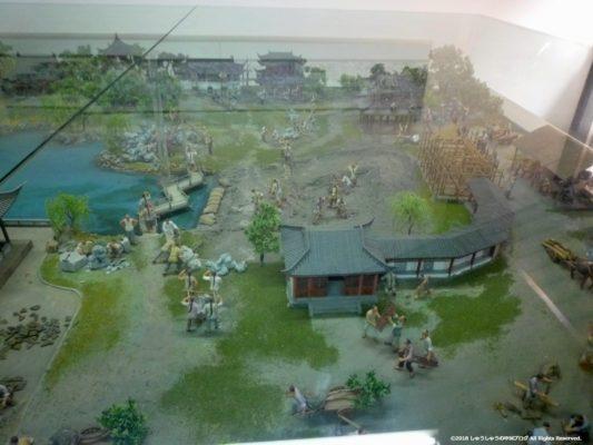 蘇州の拙政園の建築時の様子その1