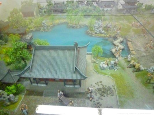 蘇州の拙政園建築時の様子その2